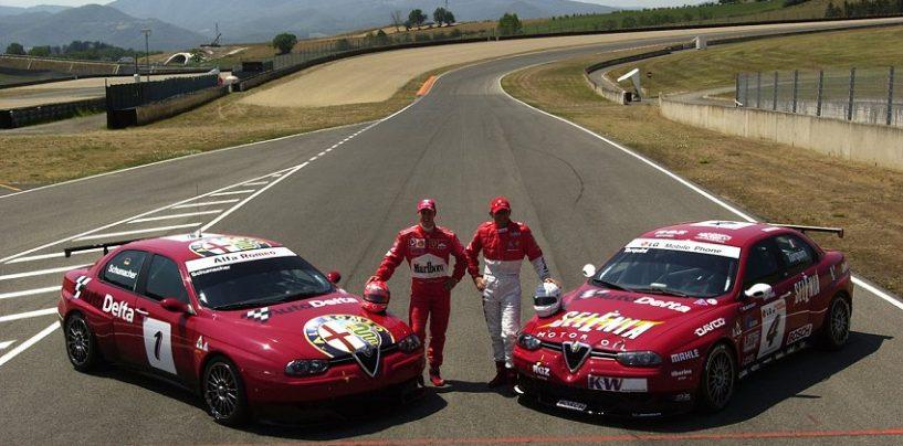 """<span class=""""entry-title-primary"""">Schumi, l'Alfa 156 e l'aiuto al fratellastro</span> <span class=""""entry-subtitle"""">Nel luglio del 2003 Michael provò l'Alfa a Mugello per aiutare...</span>"""