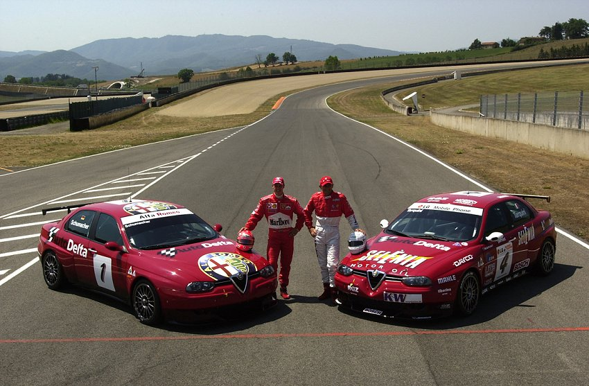 Schumi, l'Alfa 156 e l'aiuto al fratellastro