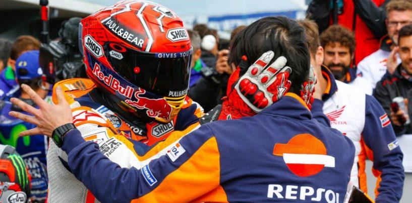 """<span class=""""entry-title-primary"""">MotoGP   GP Australia: sesta vittoria dell'anno di Marquez. Colpaccio per il mondiale</span> <span class=""""entry-subtitle"""">Dovizioso soffre ed è solo 13°. Marquez la spunta negli ultimi giri e vince davanti alle tre Yamaha</span>"""