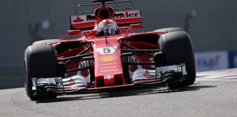 "<span class=""entry-title-primary"">F1 | GP Abu Dhabi, FP1: Vettel primo davanti a Hamilton</span> <span class=""entry-subtitle"">Tempi poco indicativi con i team alle prese con pista sporca, Halo e test aerodinamici</span>"