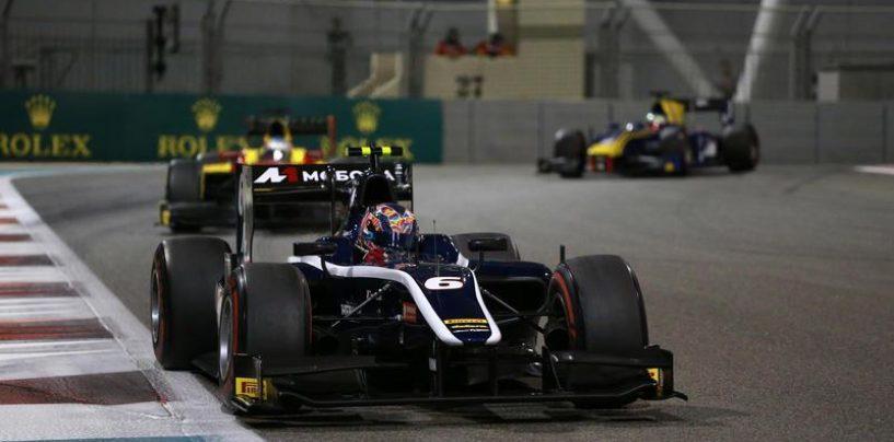 "<span class=""entry-title-primary"">F2 | Abu Dhabi: Rowland e Fuoco squalificati, vince Markelov</span> <span class=""entry-subtitle"">Leclerc e Ghiotto sul podio, Russian Time leader tra i team</span>"