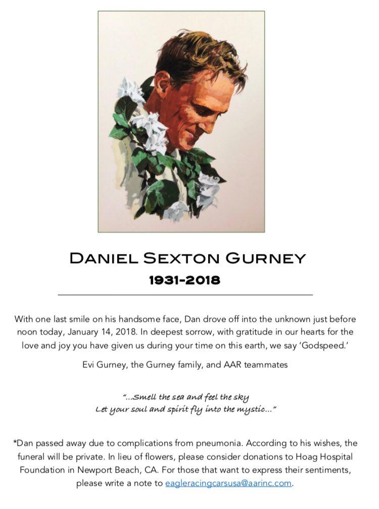 F1   Ci ha lasciati Dan Gurney: aveva 86 anni 1