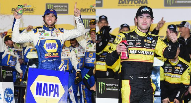 NASCAR   Ryan Blaney e Chase Elliott vincono i Duel a Daytona