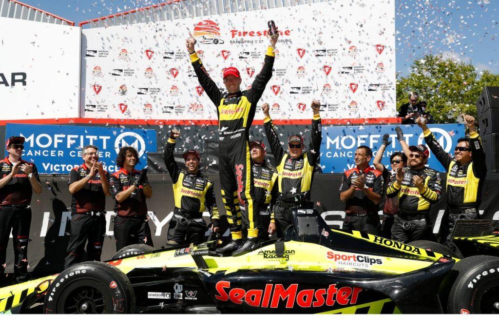 Indycar   GP St.Petersburg: Sebastien Bourdais vince per il secondo anno consecutivo