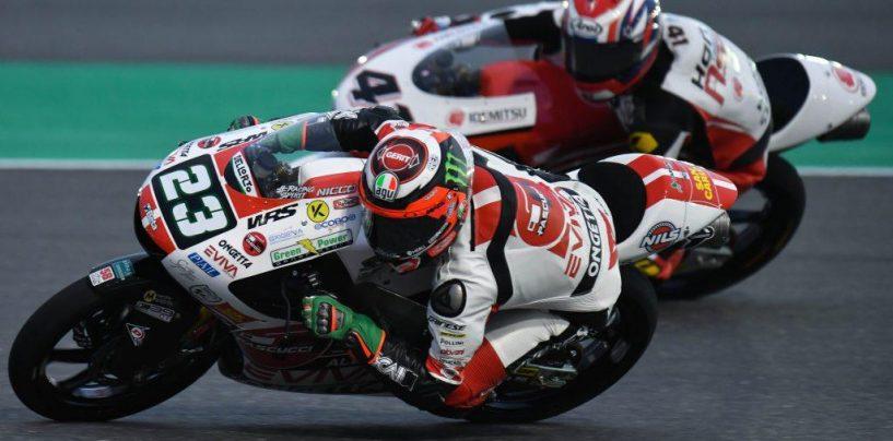 """<span class=""""entry-title-primary"""">Moto3   GP Qatar: Antonelli in pole per un millesimo!</span> <span class=""""entry-subtitle"""">L'italiano esordisce al meglio col team SIC58, tornando in pole dopo quasi due anni</span>"""