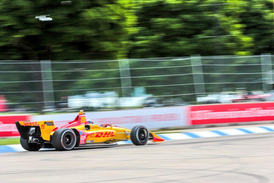 Indycar | GP Detroit: Miglior tempo nelle FP2 per Hunter-Reay