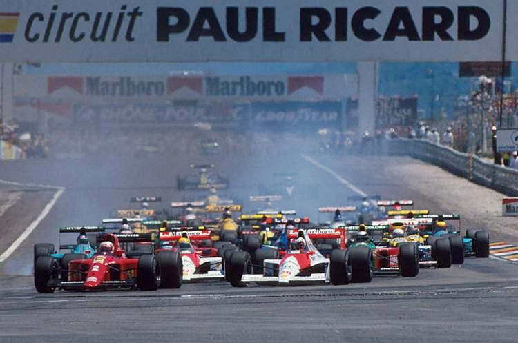 La F1 ai tempi del Paul Ricard 1990