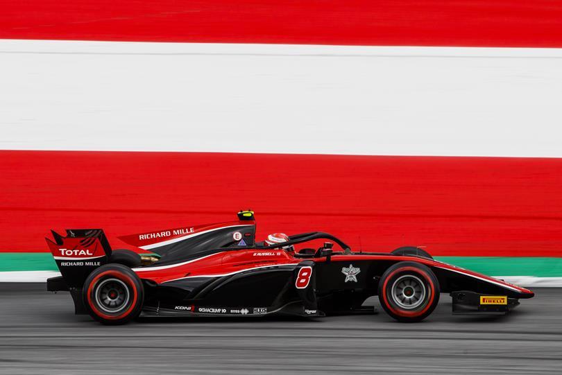 F2 | GP Austria: Russell forza quattro, Fuoco sul podio dopo una grande rimonta