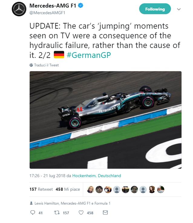 F1 | Mercedes spiega il guasto al servosterzo sulla W09 di Hamilton 2