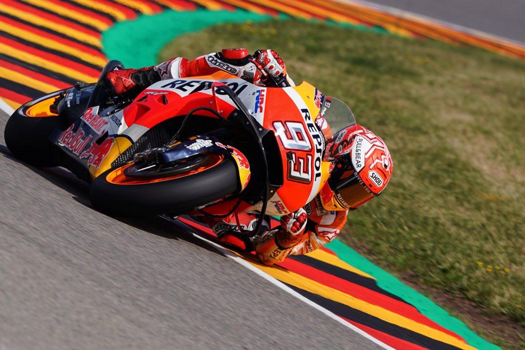 MotoGP | Sachsenring regno di Marquez. Marc suona la 9a di fila in Germania su Rossi e Vinales