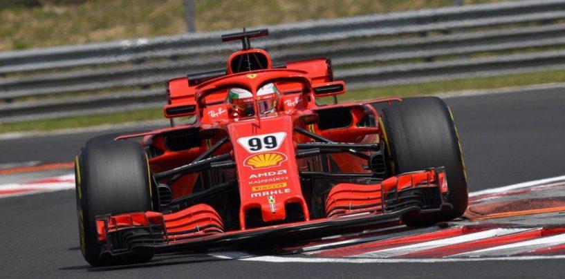 """<span class=""""entry-title-primary"""">F1   Test Hungaroring, Day-1: Giovinazzi porta la Ferrari davanti a tutti</span> <span class=""""entry-subtitle"""">Il pilota pugliese fa segnare il record ufficioso del circuito magiaro, montando le Hypersoft</span>"""