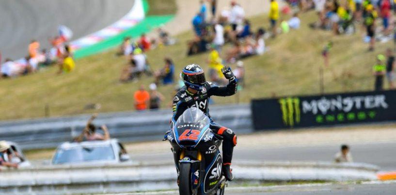 "<span class=""entry-title-primary"">Moto2 | GP Austria: Bagnaia vince battendo Oliveira all'ultima curva</span> <span class=""entry-subtitle"">I due leader del mondiale si alternano nuovamente in testa. Caduto Márquez nel giro finale</span>"