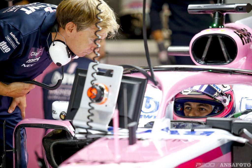 F1   GP Italia: Sergio Pérez il più veloce sull'asfalto umido nella FP1