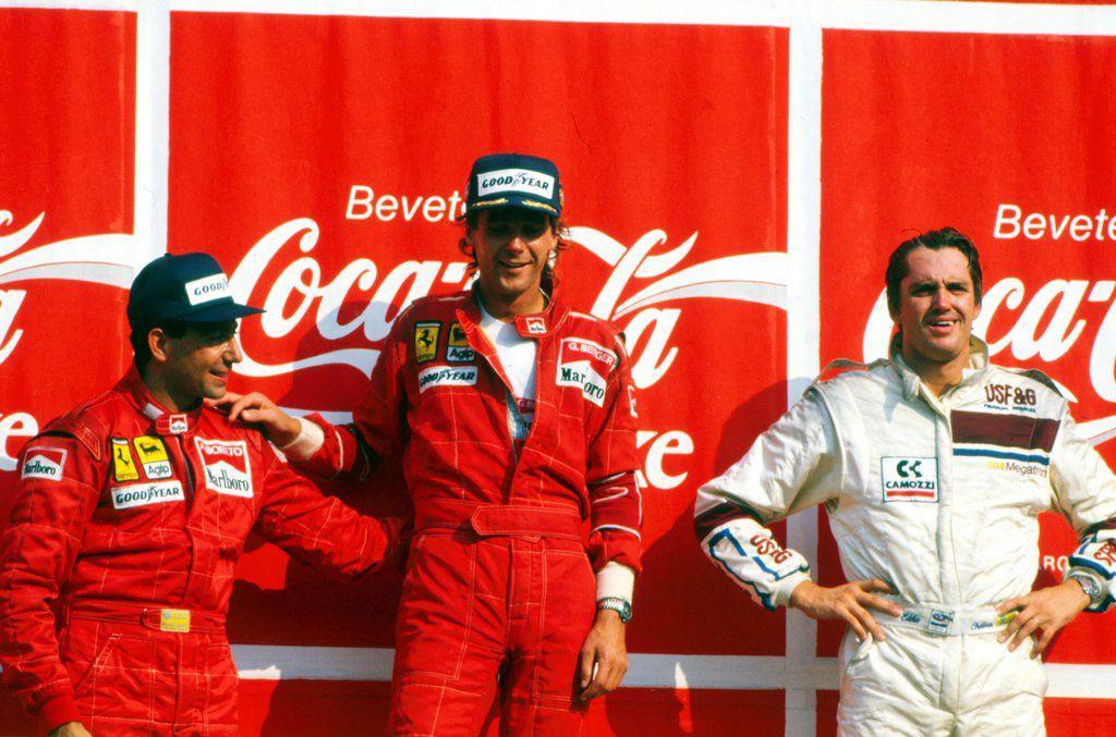 Eddie Cheever e il podio di Monza 1988