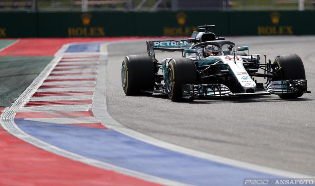 F1   GP Russia: Hamilton guida la doppietta Mercedes nella FP2
