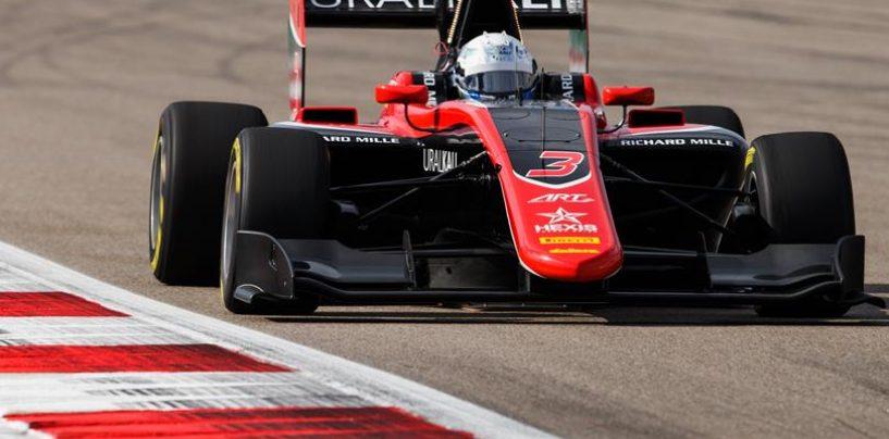 "<span class=""entry-title-primary"">GP3 | GP Russia: pole position casalinga per Nikita Mazepin</span> <span class=""entry-subtitle"">Pulcini completa la prima fila, solo quinto Hubert</span>"