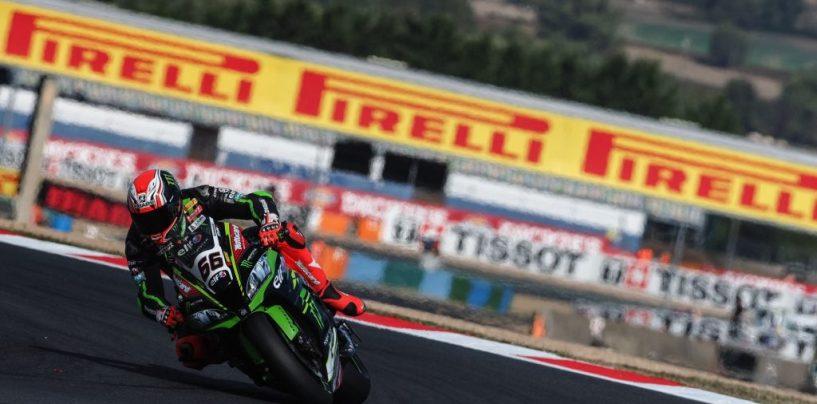 "<span class=""entry-title-primary"">SBK | GP Francia: Kawasaki asfaltano la concorrenza, Sykes in Superpole</span> <span class=""entry-subtitle"">Tom batte Jonathan Rea sul giro secco all'ultimo tentativo. Melandri 12°, Laverty 13°</span>"