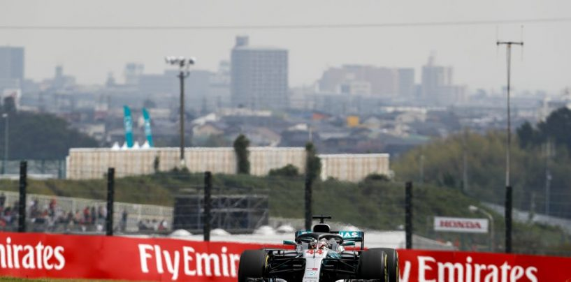 """<span class=""""entry-title-primary"""">F1   GP Giappone, qualifiche: Hamilton pole #80, disastro strategico Ferrari. Kimi 4°, Vettel 9° (poi 8°)</span> <span class=""""entry-subtitle"""">Le rosse sono le uniche a presentarsi in Q3 con le intermedie. Costrette a tornare su slick pagano la pioggia che poi arriva davvero</span>"""