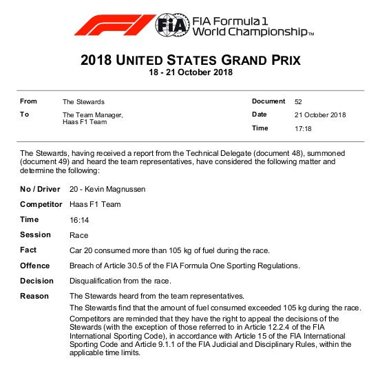 F1   Ocon e Magnussen squalificati ad Austin 2