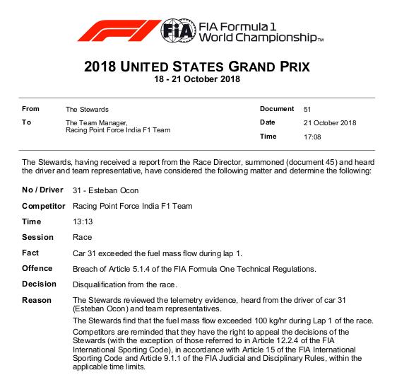 F1   Ocon e Magnussen squalificati ad Austin 1