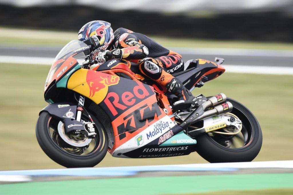 Moto2 | GP Australia: tris di Brad Binder, pratica mondiale rimandata per Bagnaia