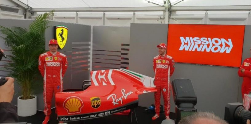 """<span class=""""entry-title-primary"""">F1   Ferrari e Philip Morris lanciano 'Mission Winnow'</span> <span class=""""entry-subtitle"""">A Suzuka il Cavallino ha presentato la nuova livrea della SF71-H</span>"""