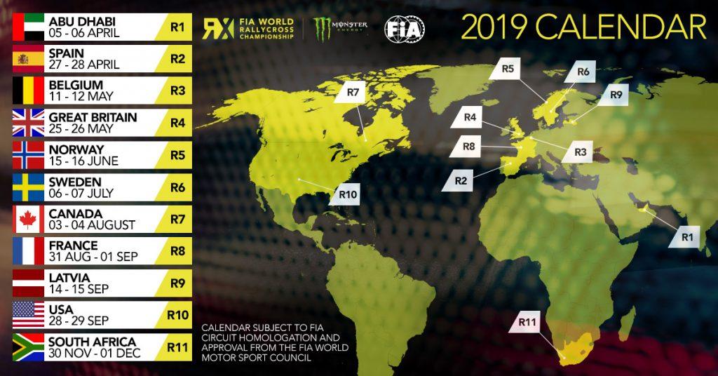 WRX | Pubblicato il calendario 2019