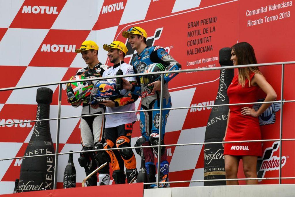 Moto2 | GP Valencia: terza vittoria stagionale per Miguel Oliveira
