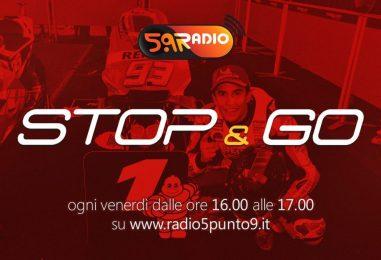 """""""Stop&Go"""" live venerdì 14 dicembre alle ore 16.00 su Radio 5.9"""