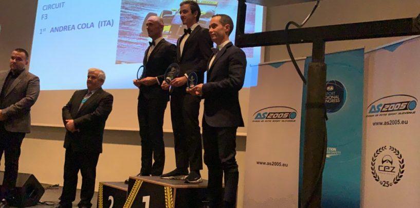 """<span class=""""entry-title-primary"""">Bicampione FIA-CEZ!</span> <span class=""""entry-subtitle"""">A Lubiana la consegna della coppa 2018 per Andrea!</span>"""