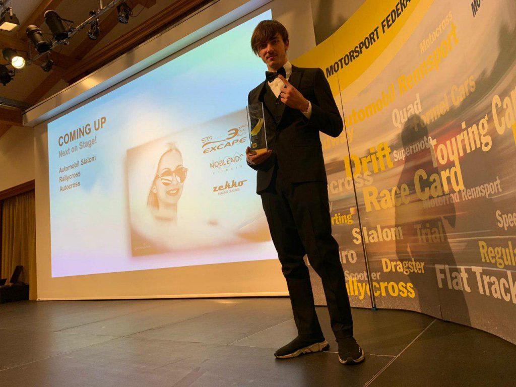 Andrea Cola premiato dall'Austrian Motorsport Federation