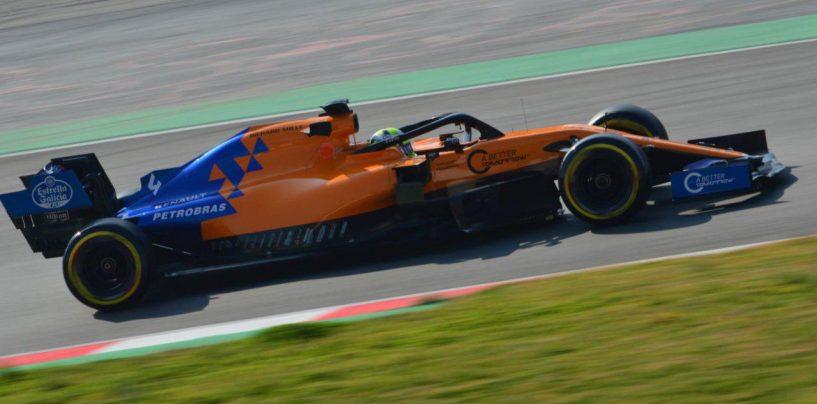 """<span class=""""entry-title-primary"""">F1   Barcellona Test Day 5: Norris chiude in testa nonostante un altro stop</span> <span class=""""entry-subtitle"""">McLaren in cima alla classifica nonostante i problemi idraulici</span>"""