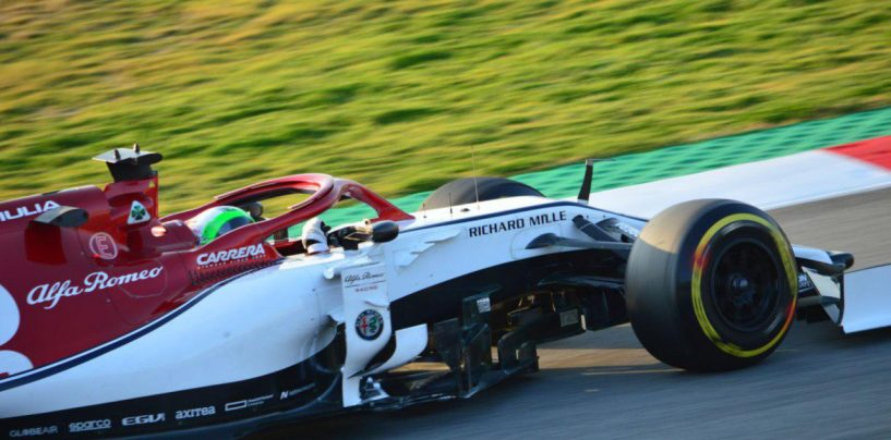 """<span class=""""entry-title-primary"""">F1   Barcellona Test Day 5: Giovinazzi al comando nella sessione mattutina</span> <span class=""""entry-subtitle"""">L'italiano detta il passo con gomma C4, pochi giri (ma buoni) per Leclerc</span>"""