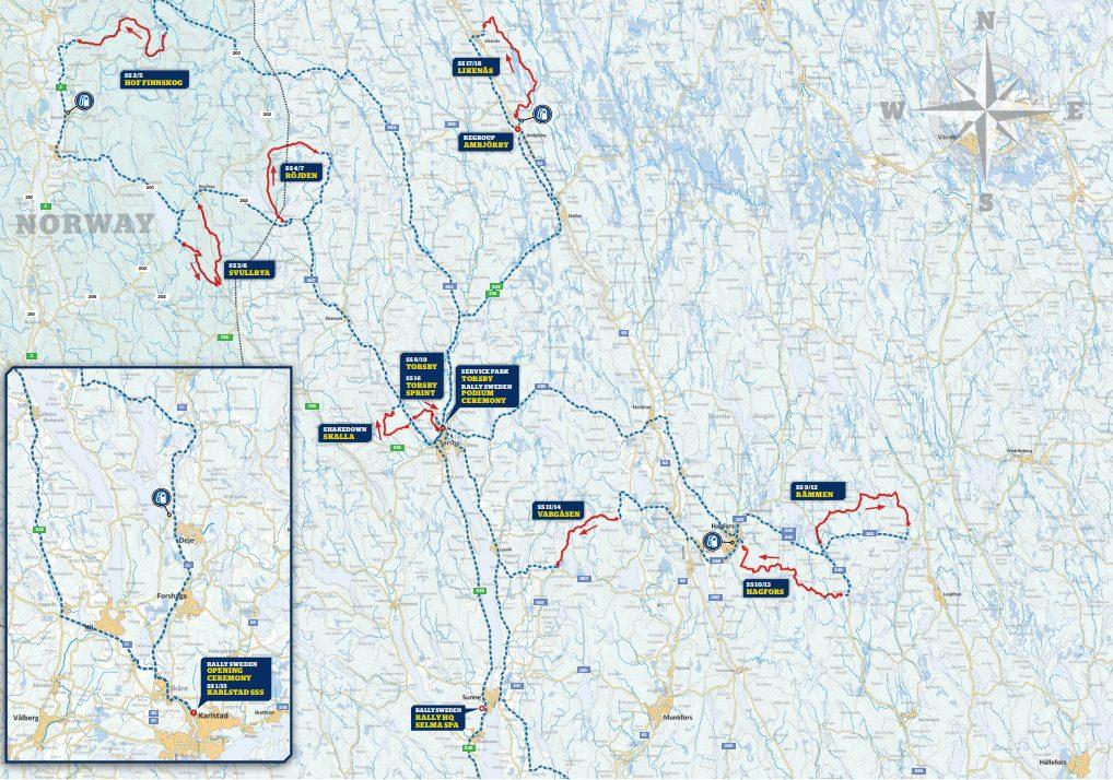WRC   Rally di Svezia 2019 - Anteprima 1