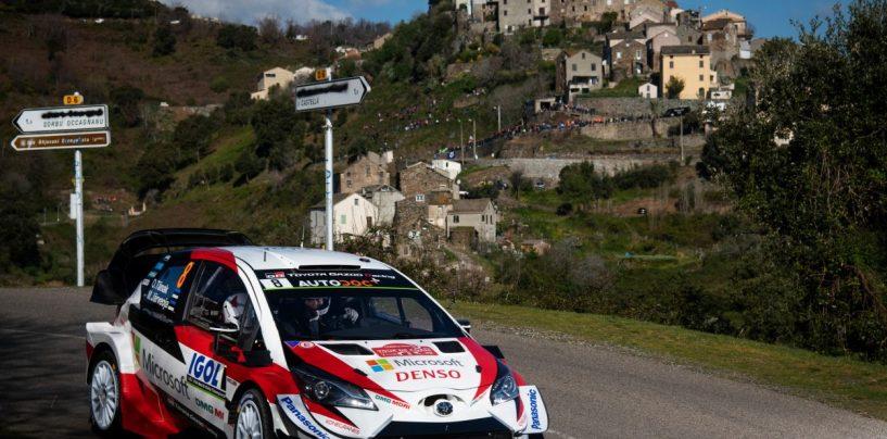 """<span class=""""entry-title-primary"""">WRC   Corsica: Tänak subito al comando, Ogier nelle retrovie</span> <span class=""""entry-subtitle"""">Quattro piloti in 7""""6, il francese sbaglia nella PS1 e arranca</span>"""