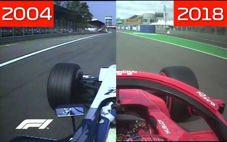 F1   2004-2018: quattordici anni di differenze in un video