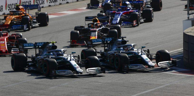 """<span class=""""entry-title-primary"""">F1   GP Azerbaijan 2019: l'analisi della gara di Baku</span> <span class=""""entry-subtitle"""">Mercedes conquista il record delle doppiette consecutive, Ferrari deve rimboccarsi le maniche</span>"""