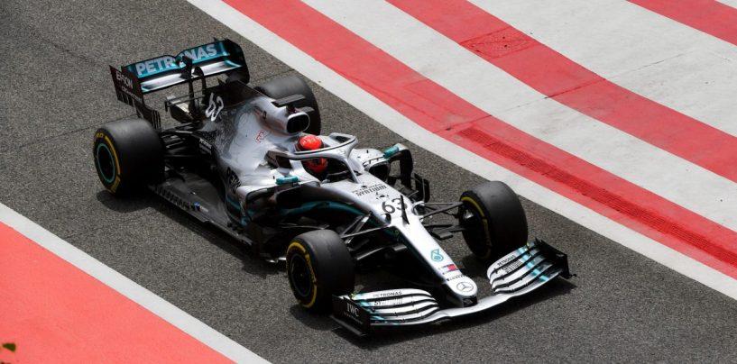 "<span class=""entry-title-primary"">F1 | Sakhir Test Day 2: Russell riporta la Mercedes davanti a tutti</span> <span class=""entry-subtitle"">Il campione della F2 precede Pérez e Vettel. 240 giri per le gomme Pirelli 2020</span>"