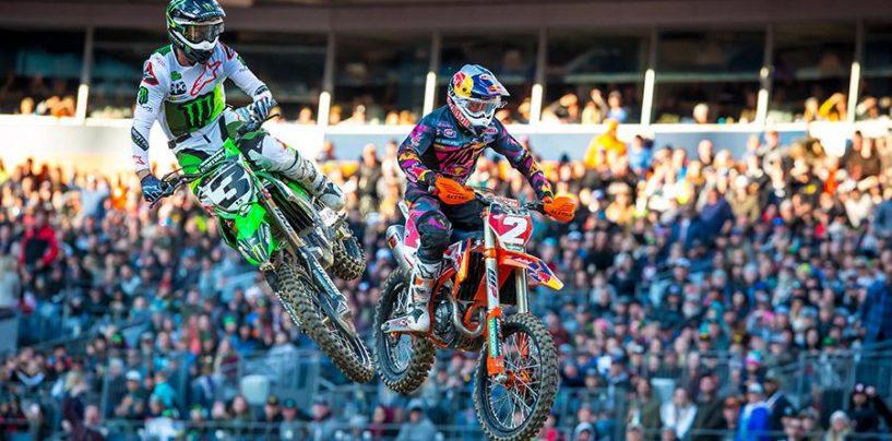 "<span class=""entry-title-primary"">Supercross | Tomac vince la gara di casa a Denver, Webb secondo</span> <span class=""entry-subtitle"">Il pilota della Kawasaki riduce a 18 i punti di distacco dal leader</span>"