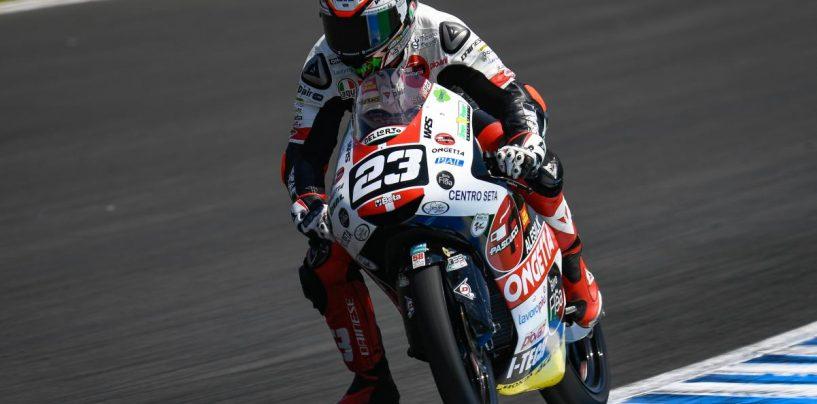 """<span class=""""entry-title-primary"""">Moto3   GP Spagna: vince Antonelli, doppietta del team SIC58</span> <span class=""""entry-subtitle"""">A quindici anni dal primo successo di Marco sotto la pioggia, il team di Paolo Simoncelli festeggia così</span>"""