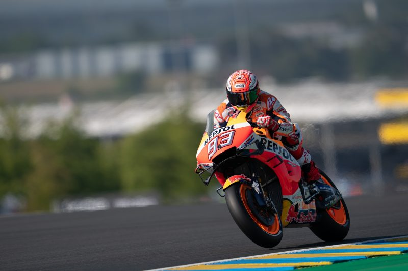MotoGP | GP Francia: Márquez davanti a tutti in una qualifica bagnata