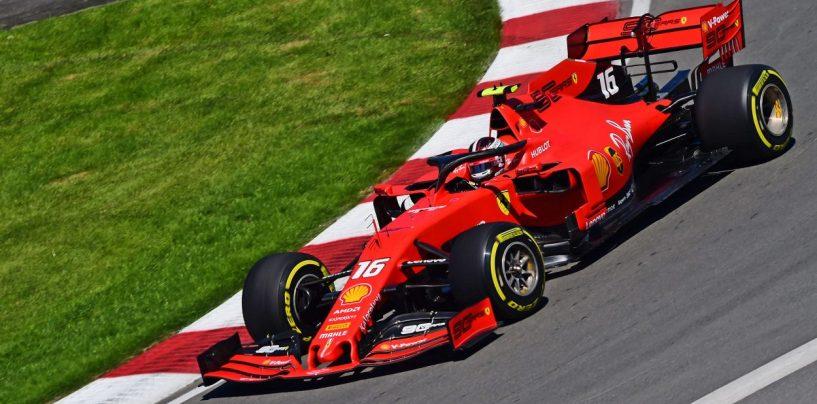"""<span class=""""entry-title-primary"""">F1   GP Canada, FP2: le Ferrari di Leclerc e Vettel al comando</span> <span class=""""entry-subtitle"""">Le Rosse divise da 74 millesimi. A muro Hamilton (che perde metà sessione) e Verstappen</span>"""