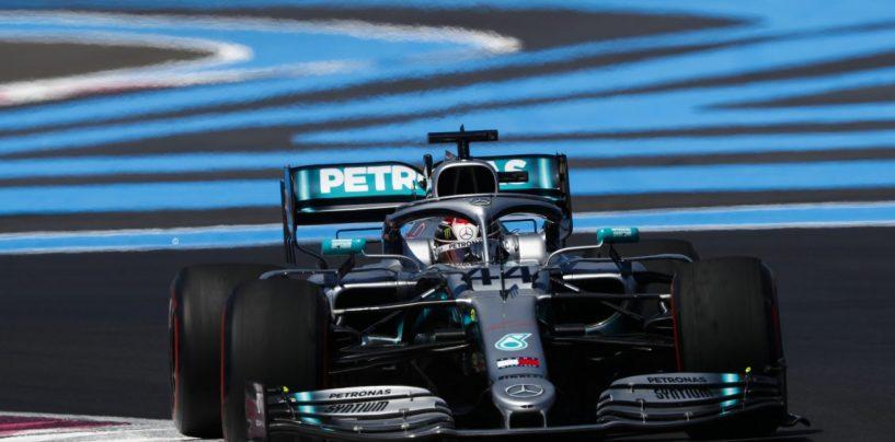 """<span class=""""entry-title-primary"""">F1   GP Francia, qualifiche: Pole numero 86 per Lewis Hamilton</span> <span class=""""entry-subtitle"""">L'inglese mette dietro Bottas di quasi tre decimi. Leclerc 3°, Vettel 7°. Terza fila McLaren</span>"""