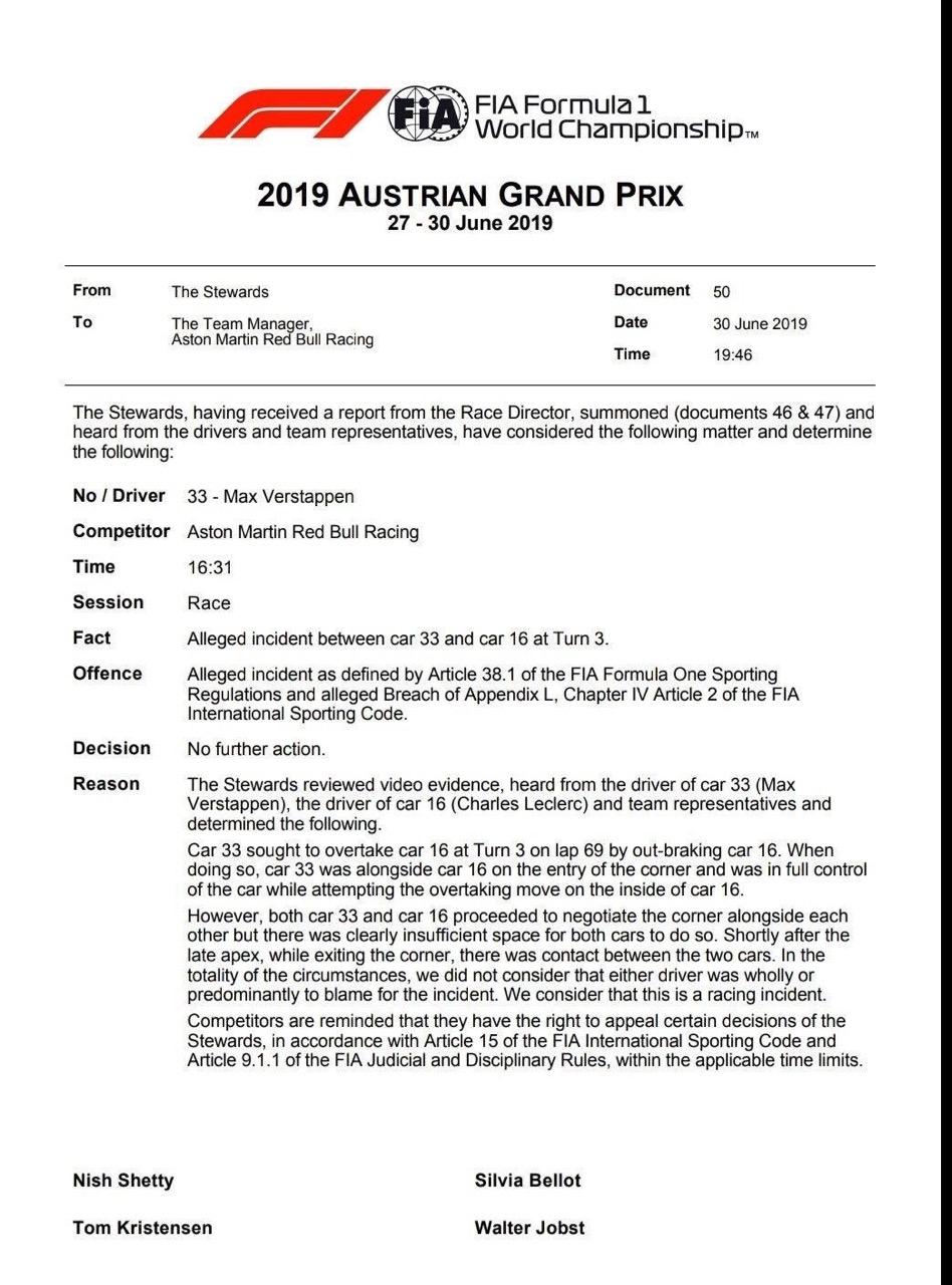 F1   GP Austria, risultato confermato. Verstappen è il vincitore al Red Bull Ring 1
