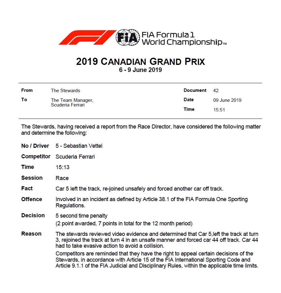 F1 | GP Canada: la ricostruzione che scagiona Vettel [Video] 14