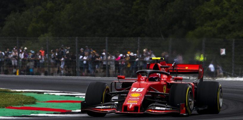 """<span class=""""entry-title-primary"""">F1   GP Gran Bretagna, FP3: lampo Ferrari. Leclerc, Vettel e Hamilton in 49 millesimi</span> <span class=""""entry-subtitle"""">L'ultima sessione di libere prima delle qualifiche porta le rosse davanti a tutti</span>"""