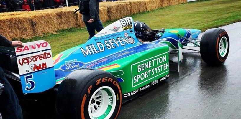 """<span class=""""entry-title-primary"""">Un'immagine che chiude un cerchio</span> <span class=""""entry-subtitle"""">Hill sulla Benetton 1994 è più di un semplice tributo</span>"""