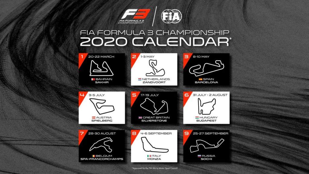 F3 | Pubblicato il calendario 2020: un round in più nella prossima stagione