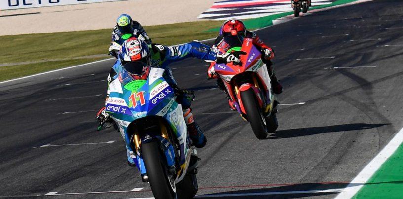 """<span class=""""entry-title-primary"""">MotoE   GP San Marino: Matteo Ferrari fa doppietta e allunga in classifica</span> <span class=""""entry-subtitle"""">Altra giornata di grazia del pilota Gresini, zero punti per Siméon e De Angelis</span>"""