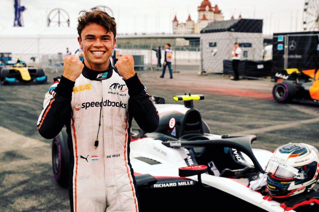 F2   GP Russia: Nyck de Vries vince la feature race ed è campione 2019